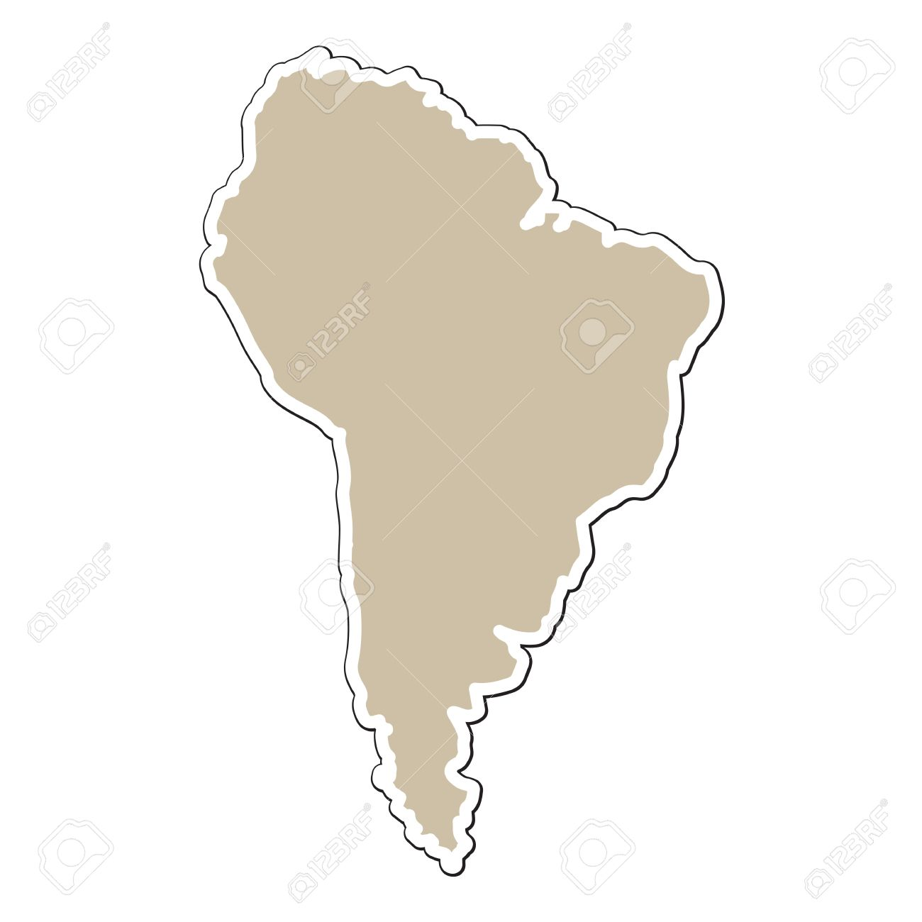 North And South America Map Outline Download Free North America - South america map outline