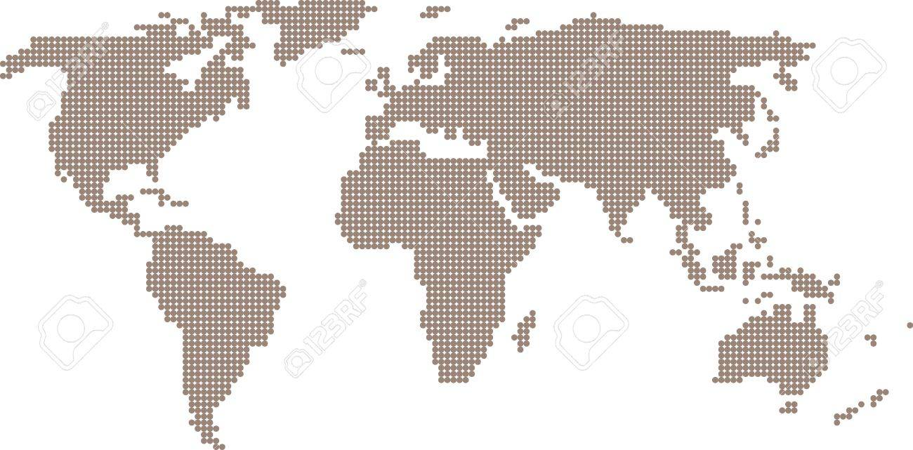 Contour map of the world of bubbles on a white background royalty contour map of the world of bubbles on a white background stock vector 20840418 gumiabroncs Choice Image