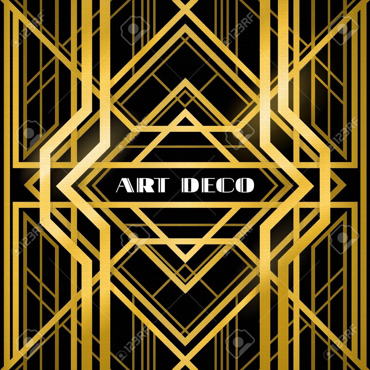 Art Deco Pattern Stock Vector Image Art Alamy