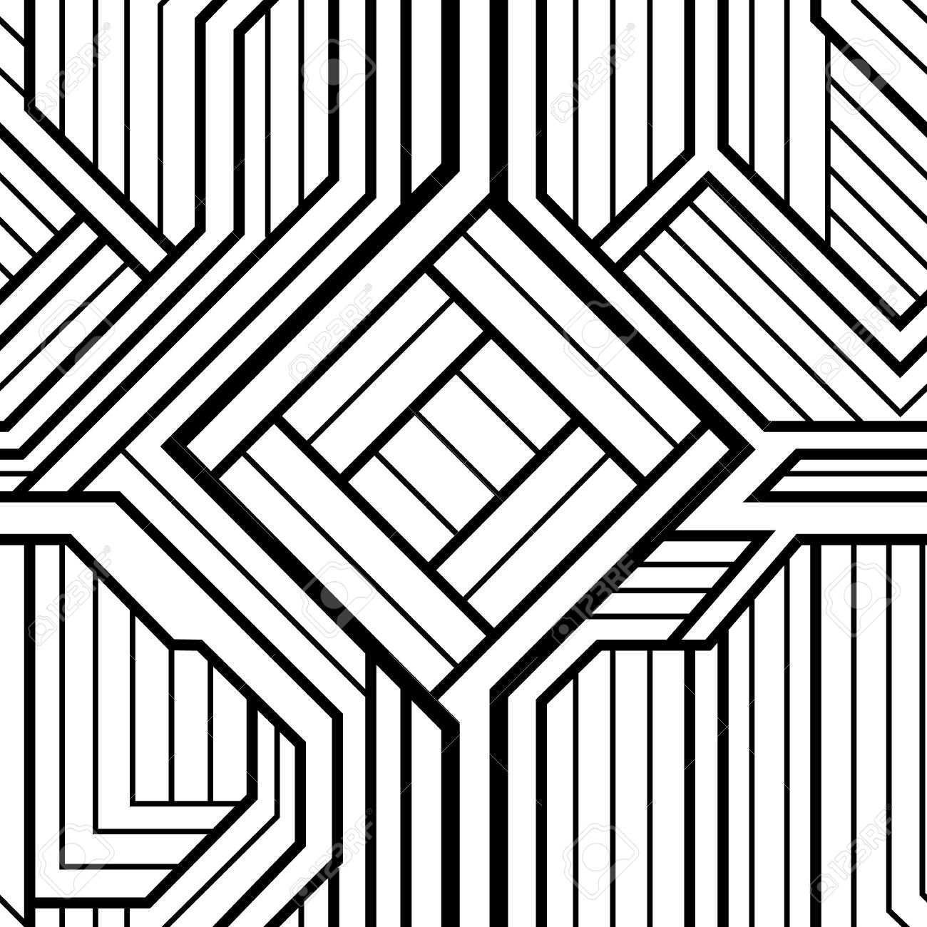 Black And White Pictures Of Art Deco Designs And Motifs