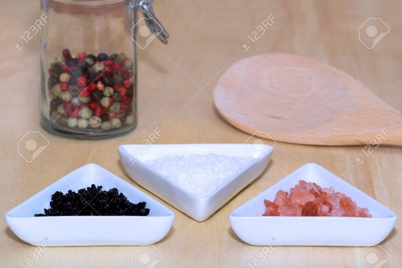 Plan à trois sel et poivre
