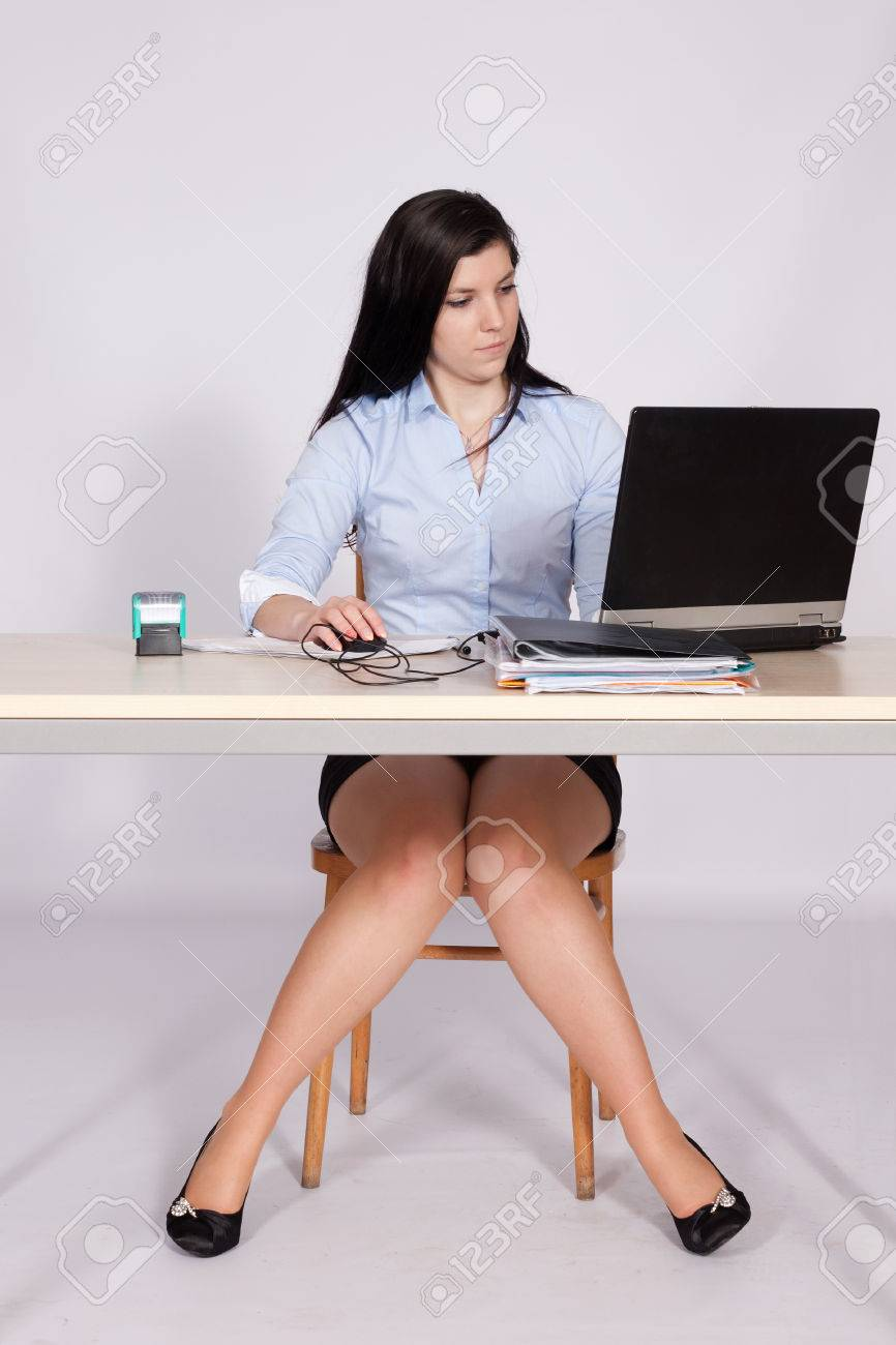 Upskirt secretary babe under desk sex pictures