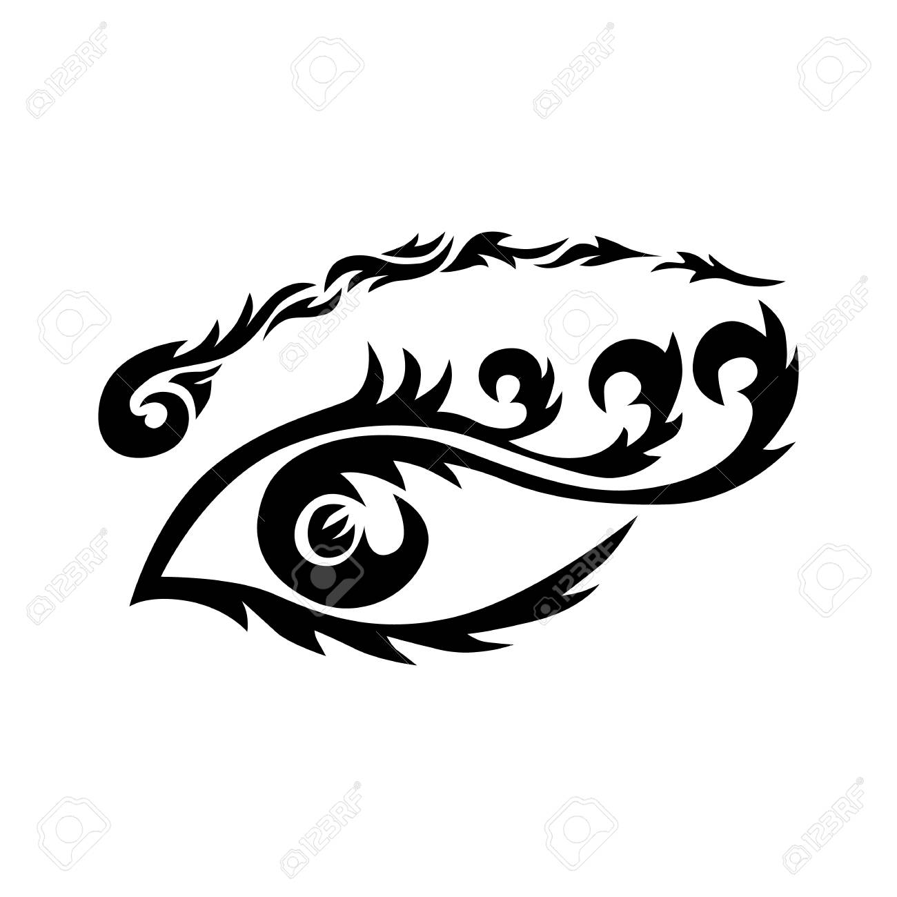 Eye Tattoo Maori Tribal Tattoo In Polynesian Style Celtic Ornament