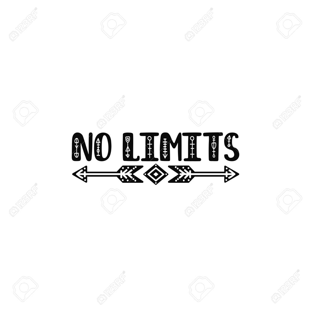 graphic regarding Printable Arrows known as No limitations. Inspirational printable estimate with arrows. Vector..
