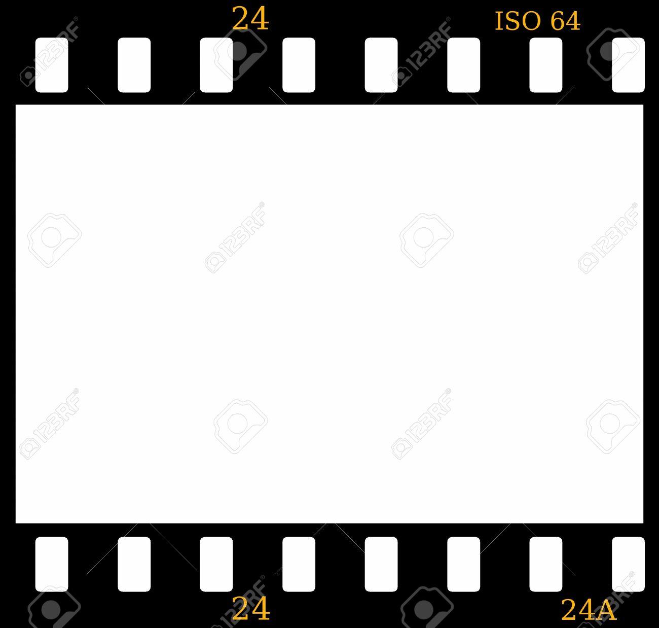 35mm Color Positive Slide Film Frame Isolated On White Stock Photo