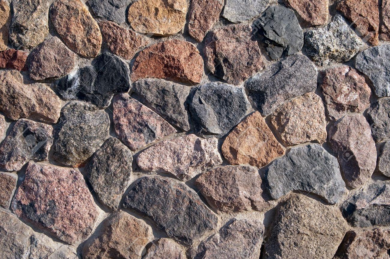 Muro De Piedra Marrn De La Piedra Natural Fotos Retratos Imgenes