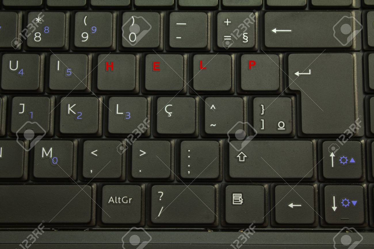 Computer keyboard with special keys for help