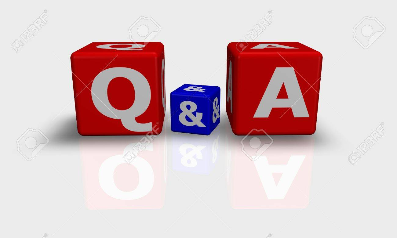 Cube words with Q&A Stock Photo - 9759220