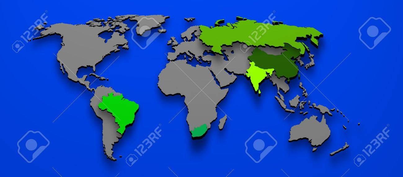 3d illustration political map of brics brazil china russia india 3d illustration political map of brics brazil china russia india south africa stock illustration 15889390 gumiabroncs Choice Image