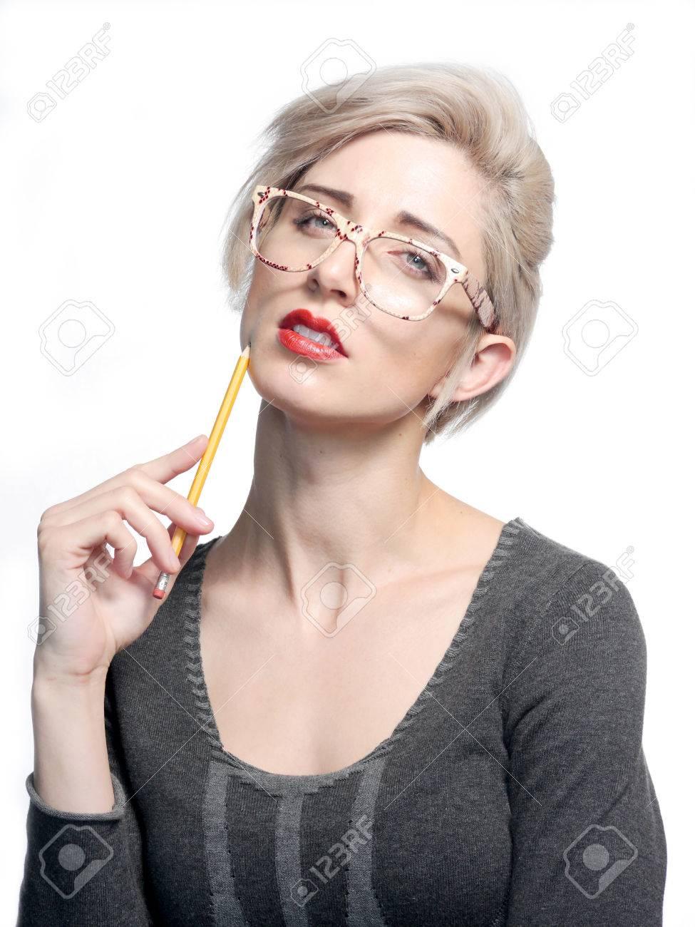 Frau brille nackt foto 82