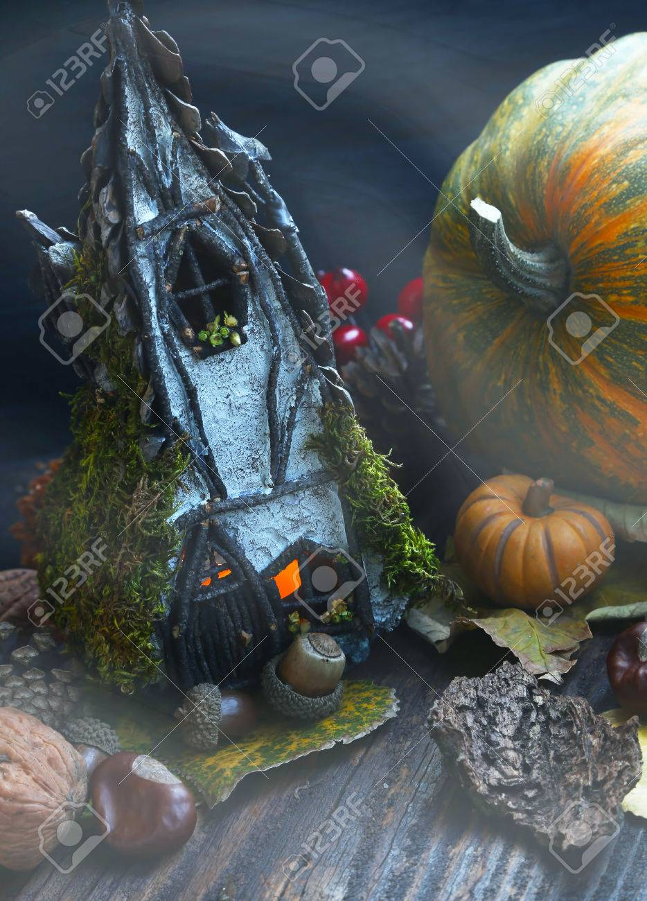 Swell Autumn Fairytale Witch House Halloween Decoration With Decorative Download Free Architecture Designs Rallybritishbridgeorg