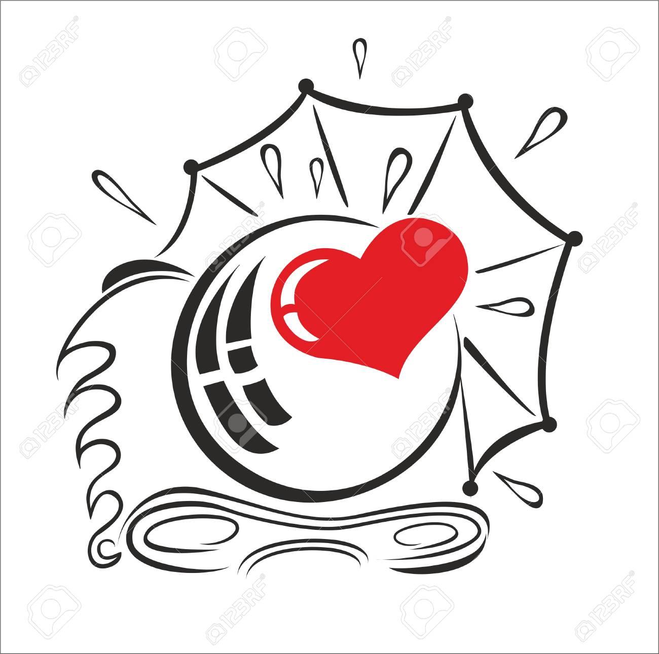 Heart Camera Vector Illustration Royalty Free Cliparts Vectors And