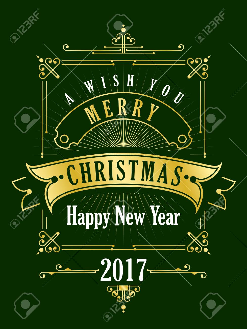 Christmas card with the words peace and love with the love lettering vector vintage christmas card gold festive frame with the words merry christmas m4hsunfo