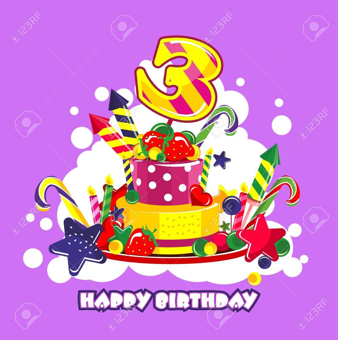誕生日ケーキの数です ロイヤリティフリークリップアートベクター