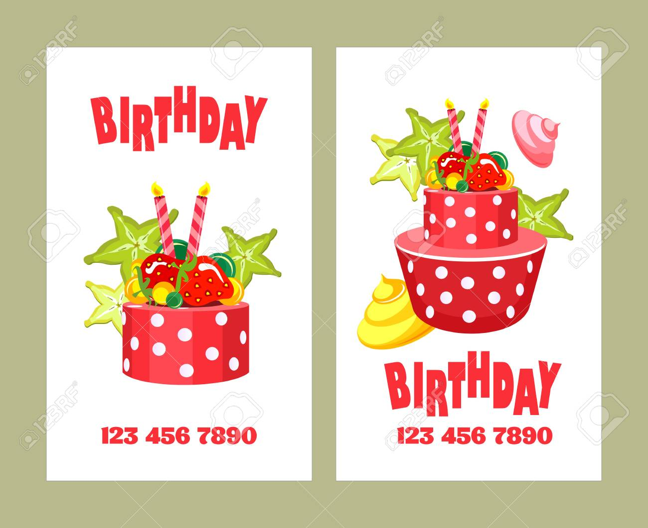 Cards On Holidays Birthdays Can Be Used For Printing Advertising Business