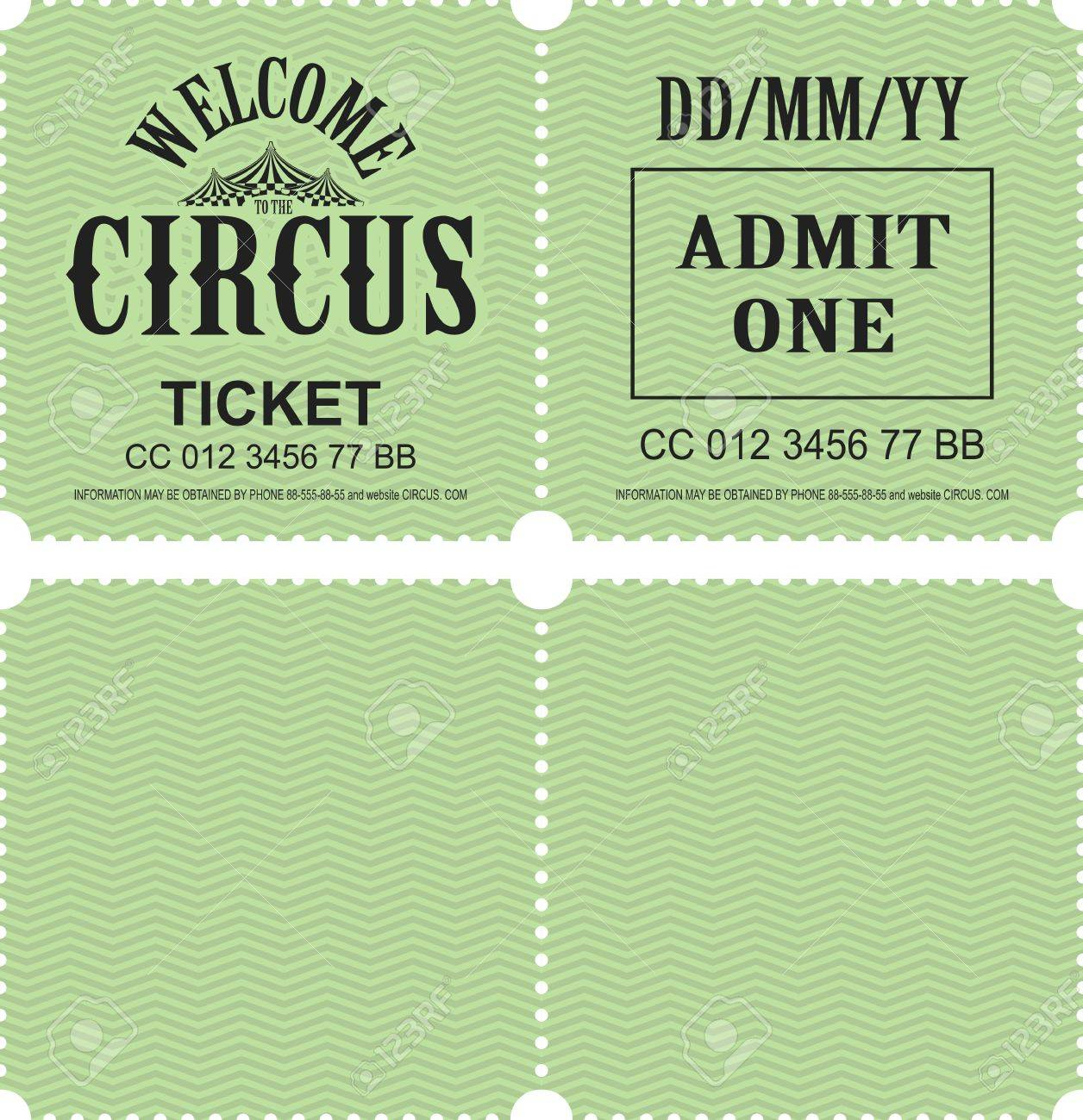 retro tear off coupon ticket for presentation template royalty free