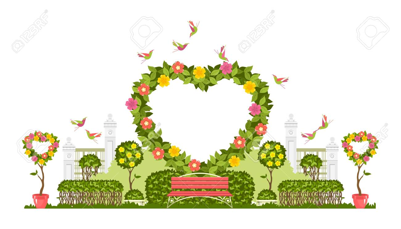 Wedding Arch On A White Background Of Plant Elements And Flowers Royalty Free Cliparts Vectors And Stock Illustration Image 100874940