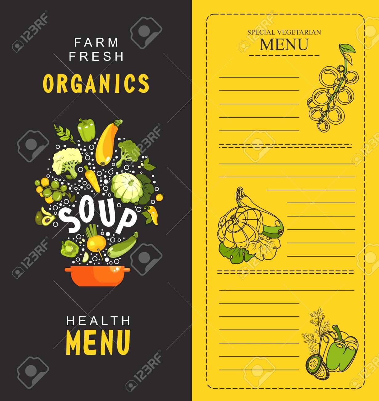 vector illustration vertical menu booklet for cafe special