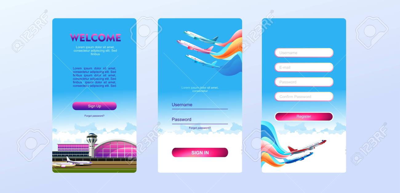 Page Template For Website Home Page Test Screen Authorization Royalty Free Cliparts Vectors And Stock Illustration Image 141461956
