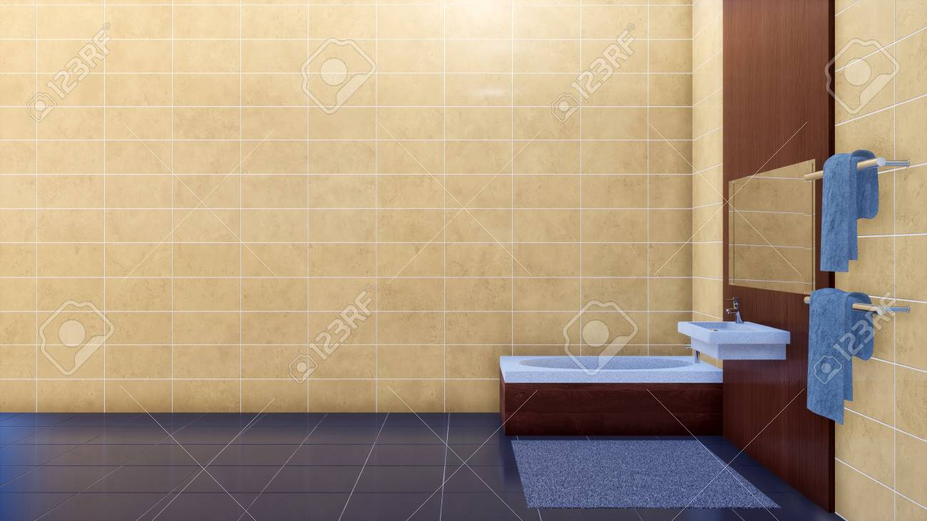 Modern Bright Minimalist Bathroom Interior Design With Stylish Stock Photo Picture And Royalty Free Image Image 114334676