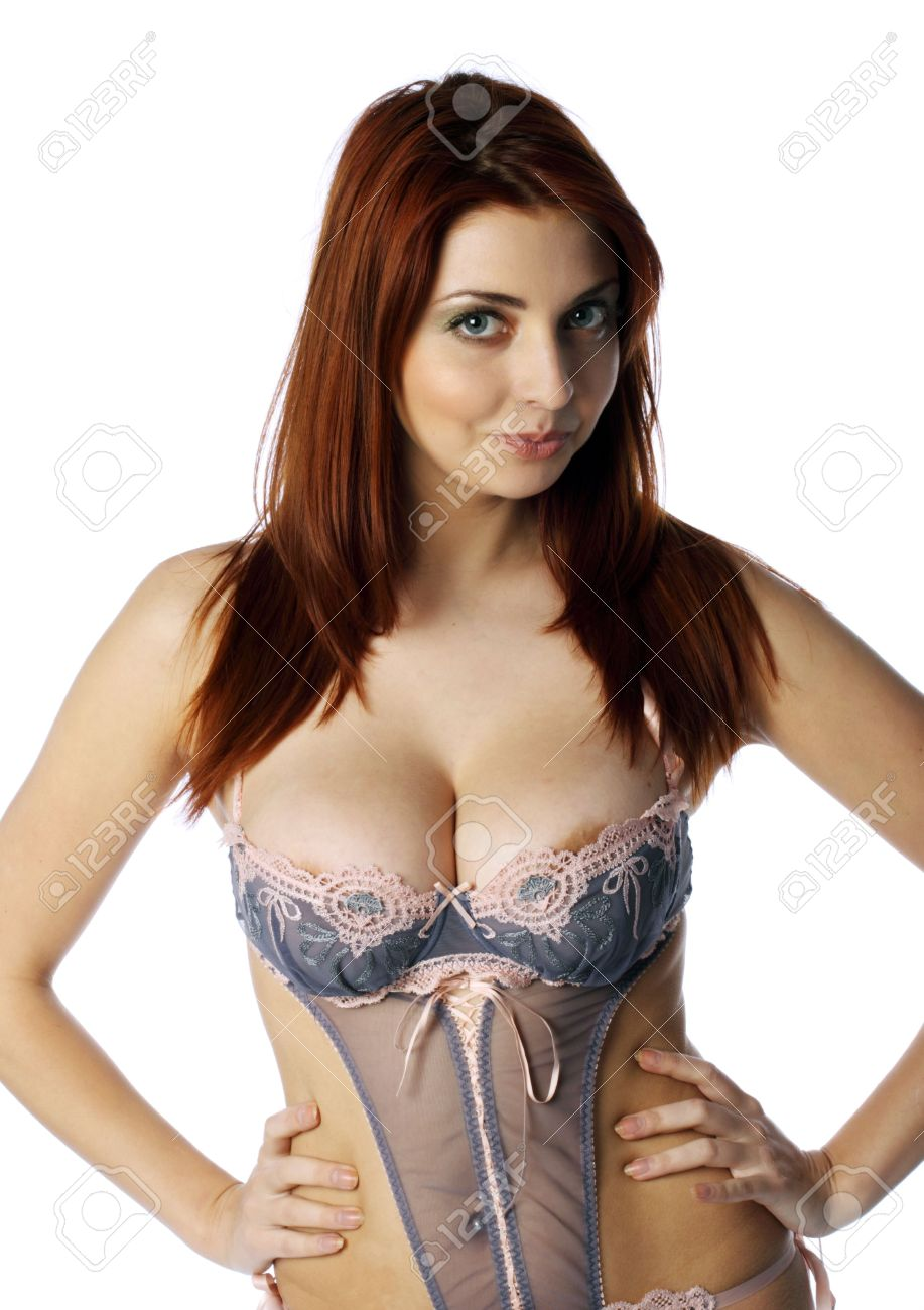 The Beautiful Girl With Big Breast Stock Photo, Picture And ...