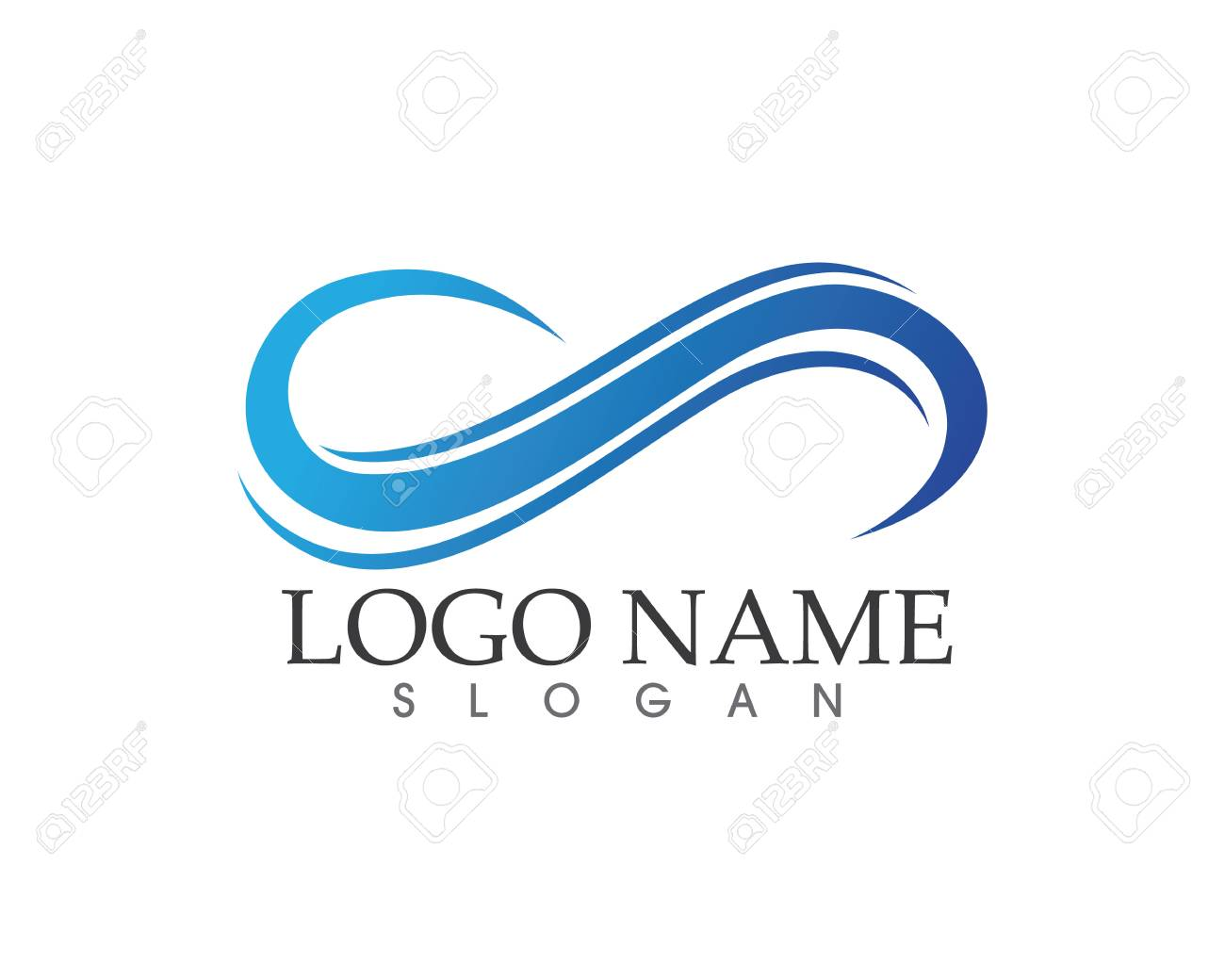 Infinity Logo And Symbol Template Royalty Free Cliparts Vectors