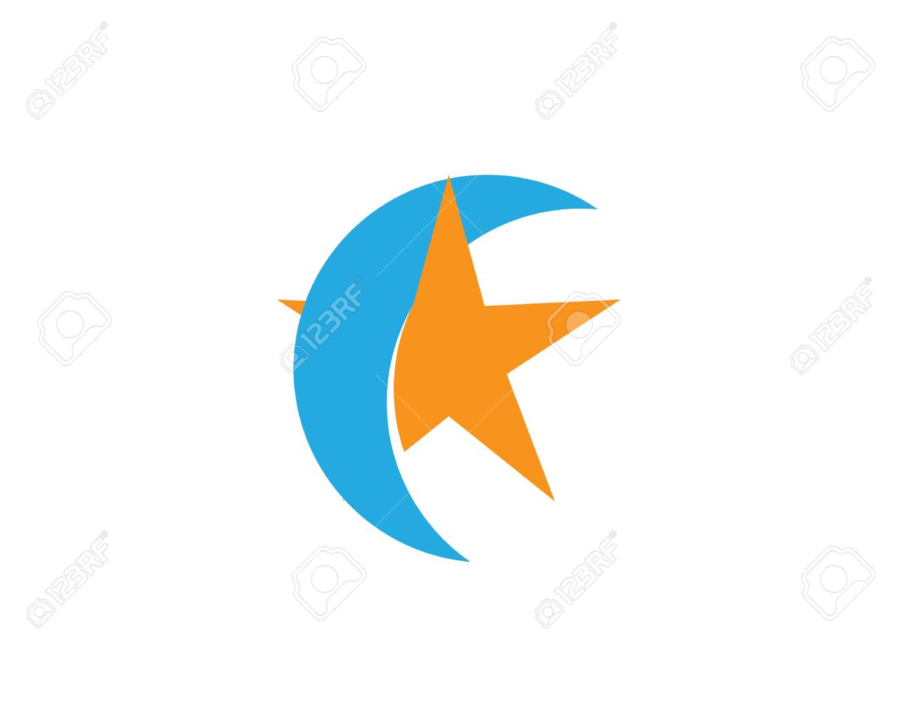 Star And Moon Symbol Template Royalty Free Cliparts Vectors And