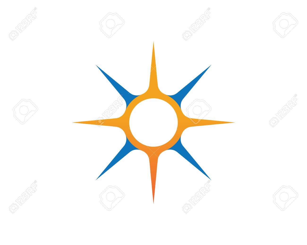 vector compass signs and symbols logo royalty free cliparts