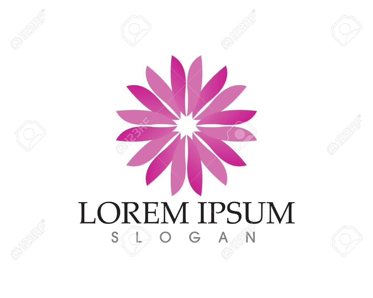Vector Lotus Flower Zeichen Für Wellness Spa Und Yoga Vector