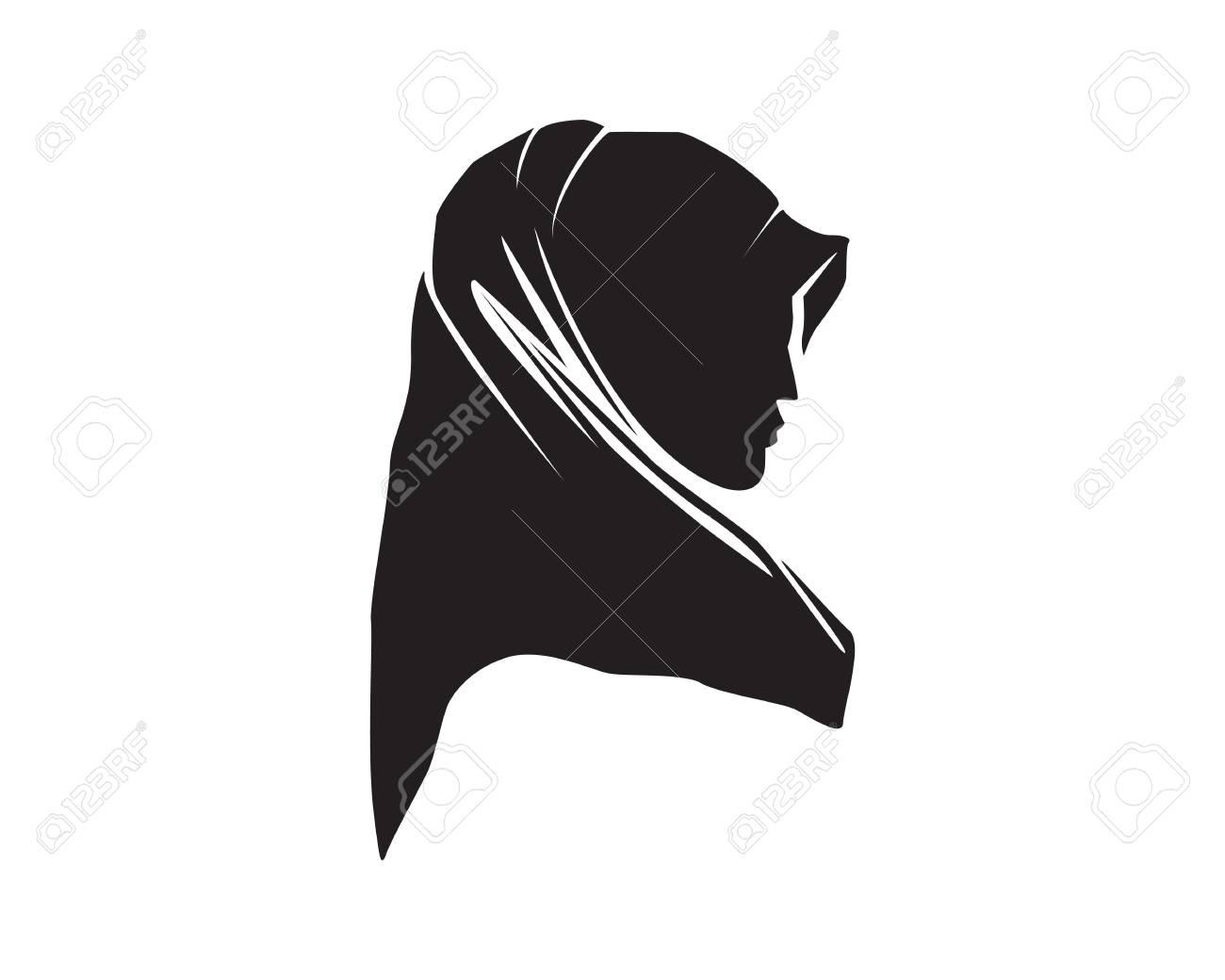 hijab woman logo Stock Vector , 91272590