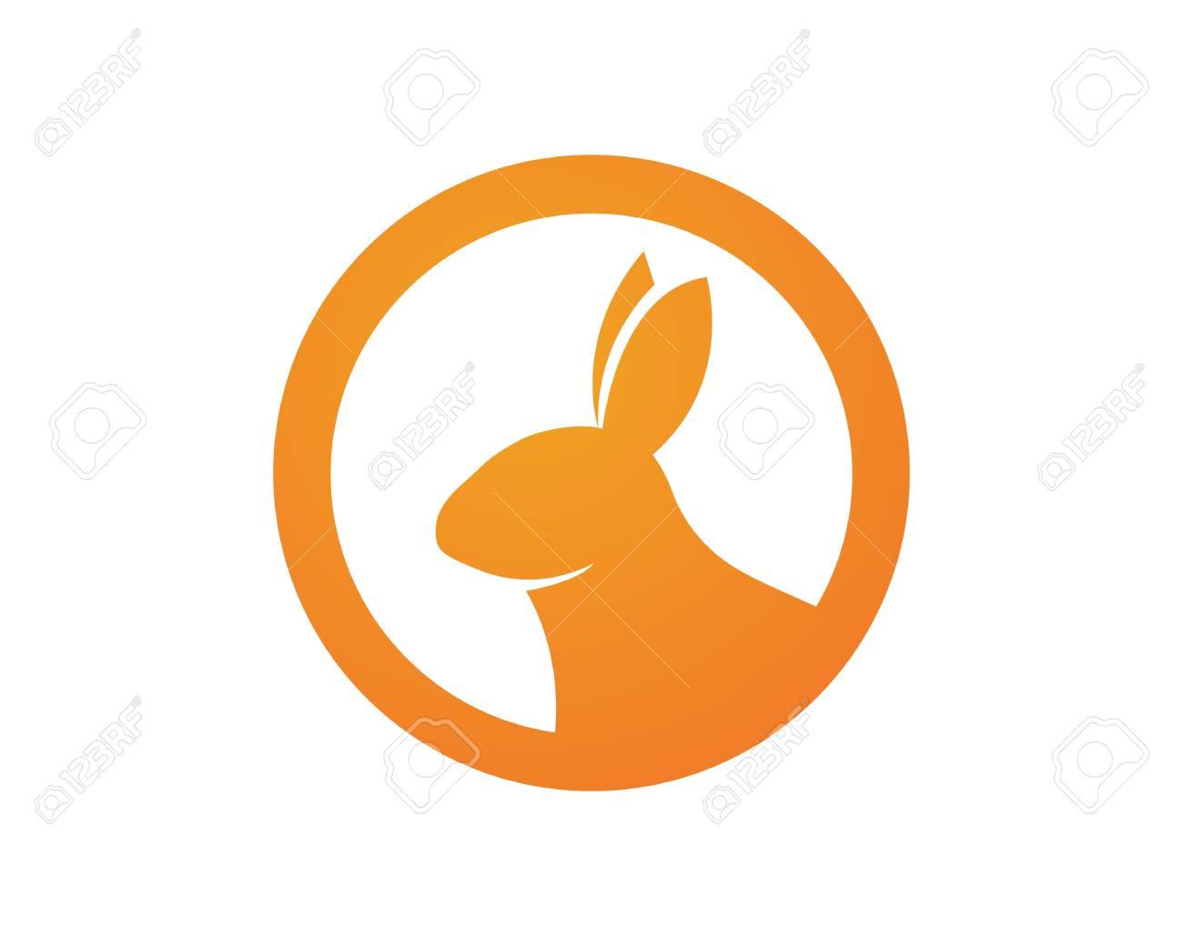 rabbit symbols template royalty free cliparts vectors and stock