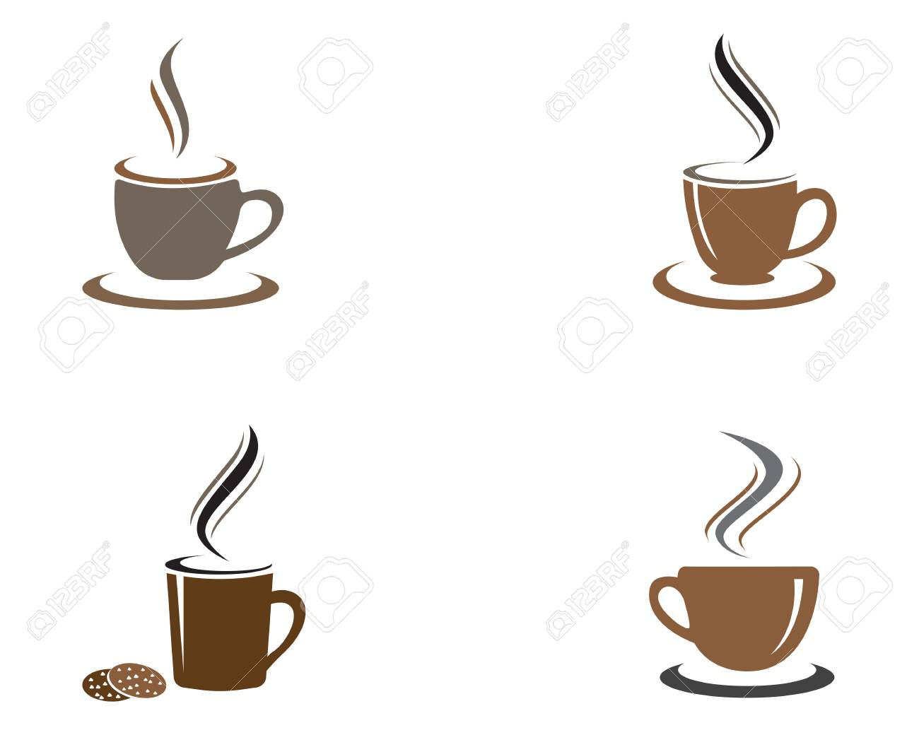 coffee cup template vector icon design royalty free cliparts