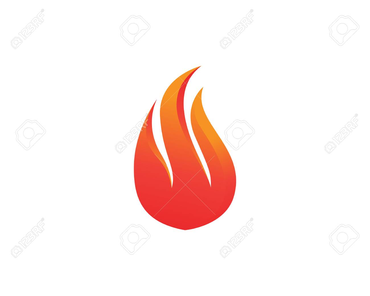 Fire symbols template icons