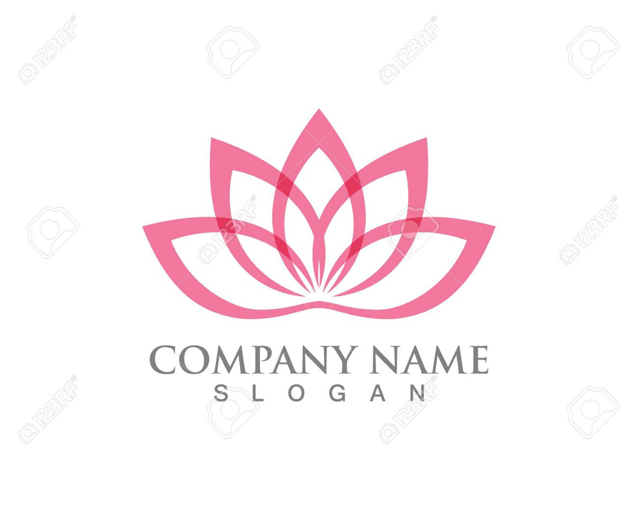 Lotus Flower Sign For Wellness Spa And Yoga Vector Royalty Free