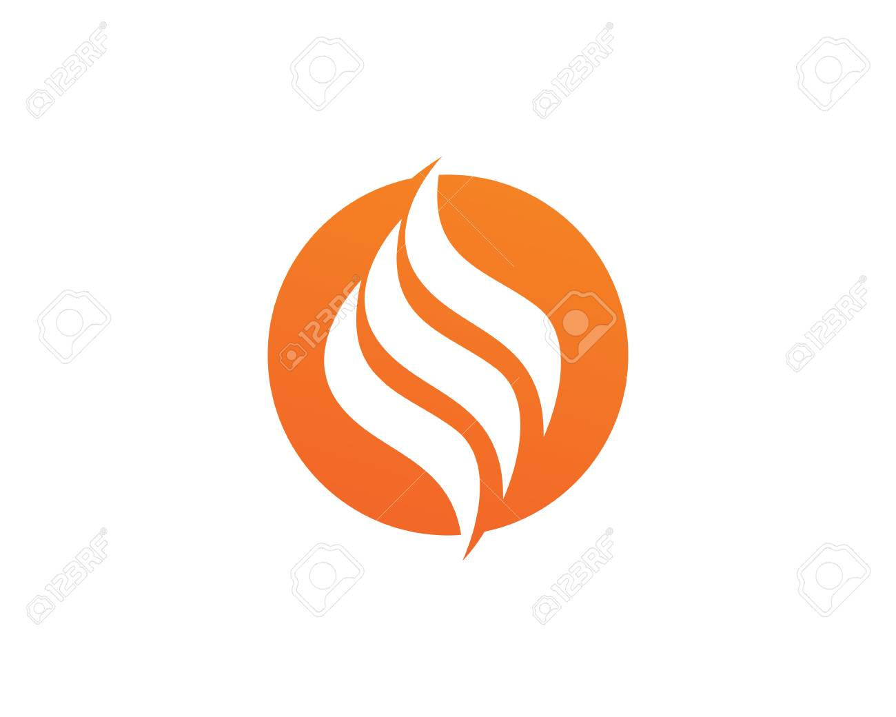 fire flame template vector icon oil gas and energy logo concept