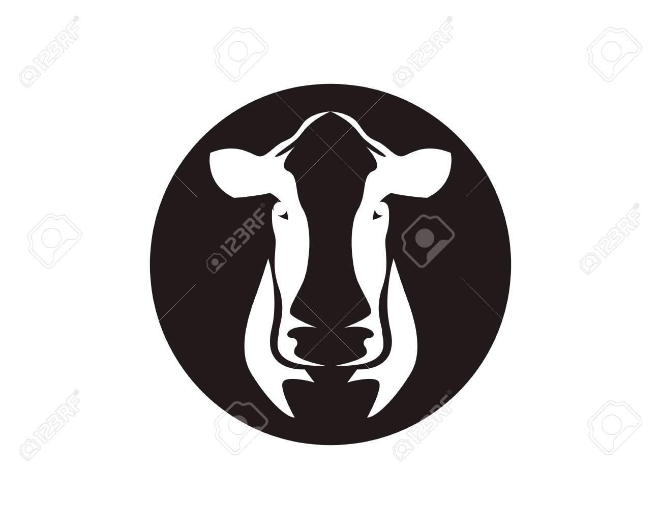cow head symbols logo vector template royalty free cliparts vectors