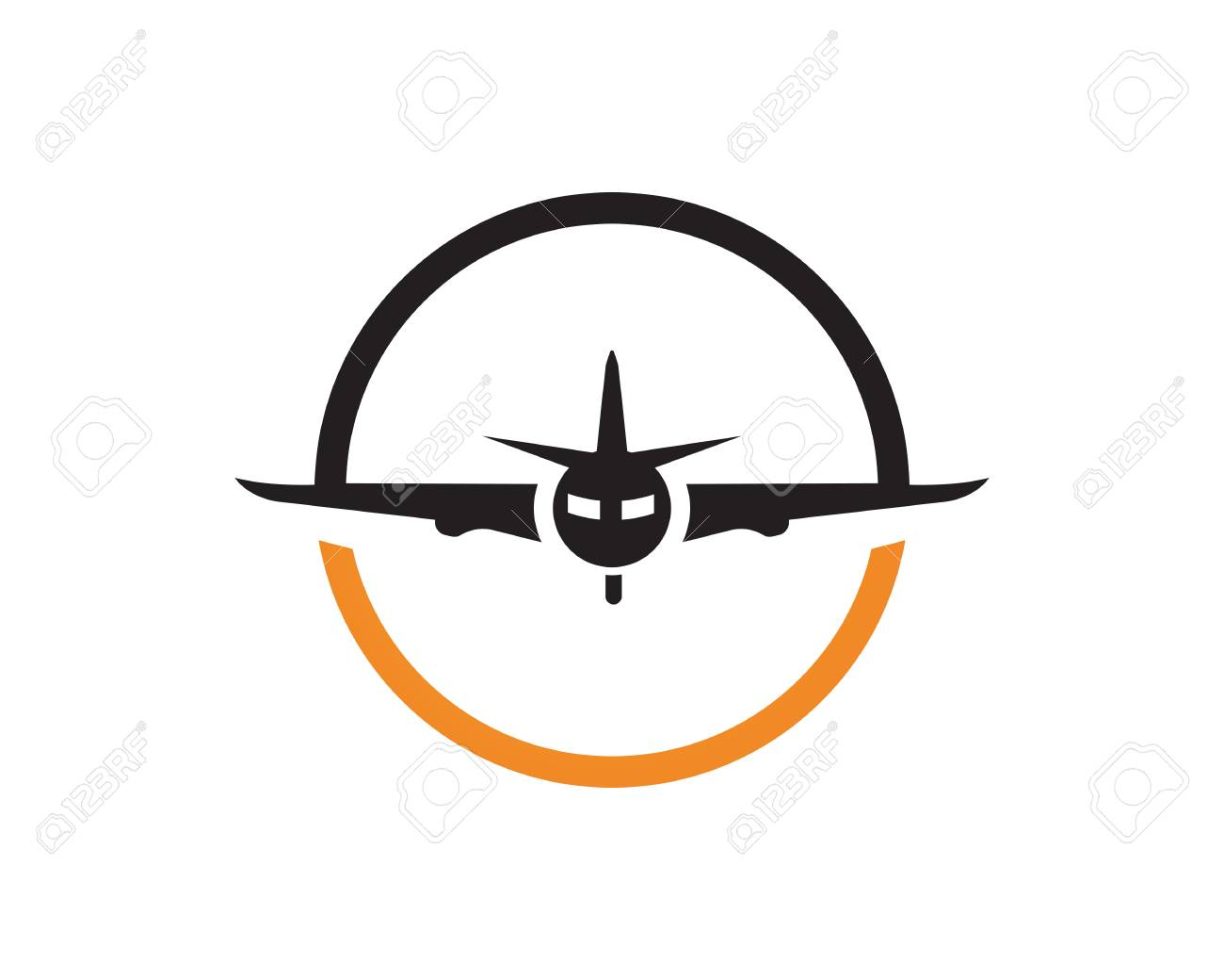 airplane fly logo and symbols vector template app royalty free