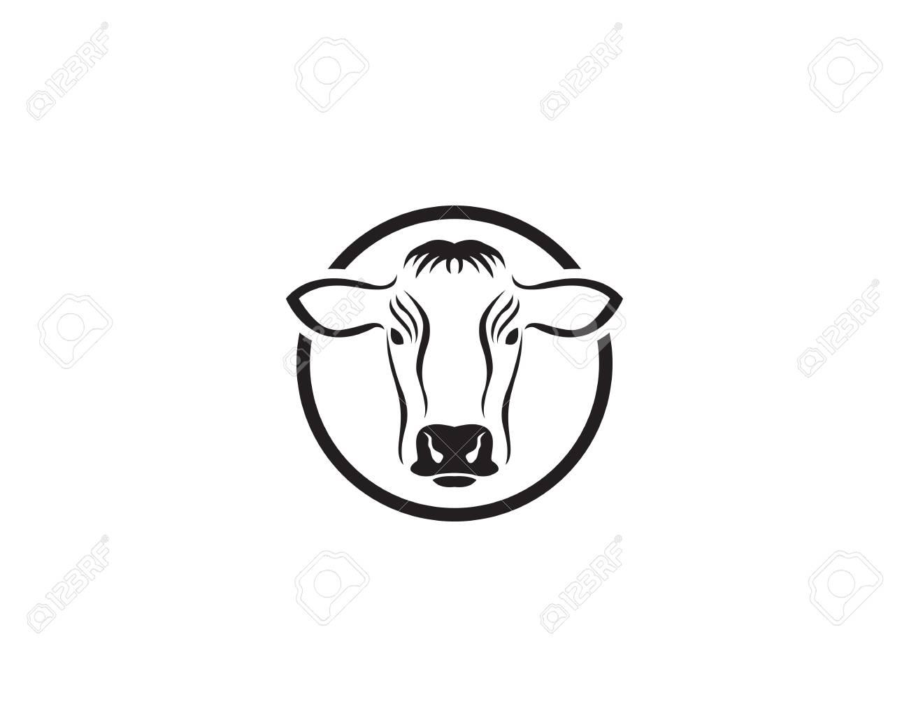 Cow Template   Cow Template Vector Icon Illustration Design Lizenzfrei Nutzbare