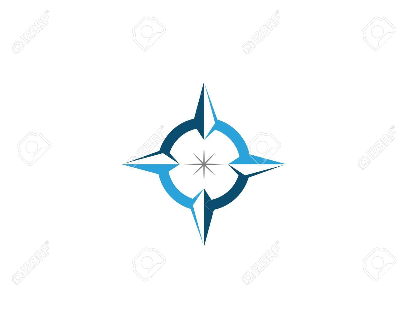 Compass Logo Template vector icon illustration design - Vector - 121558555