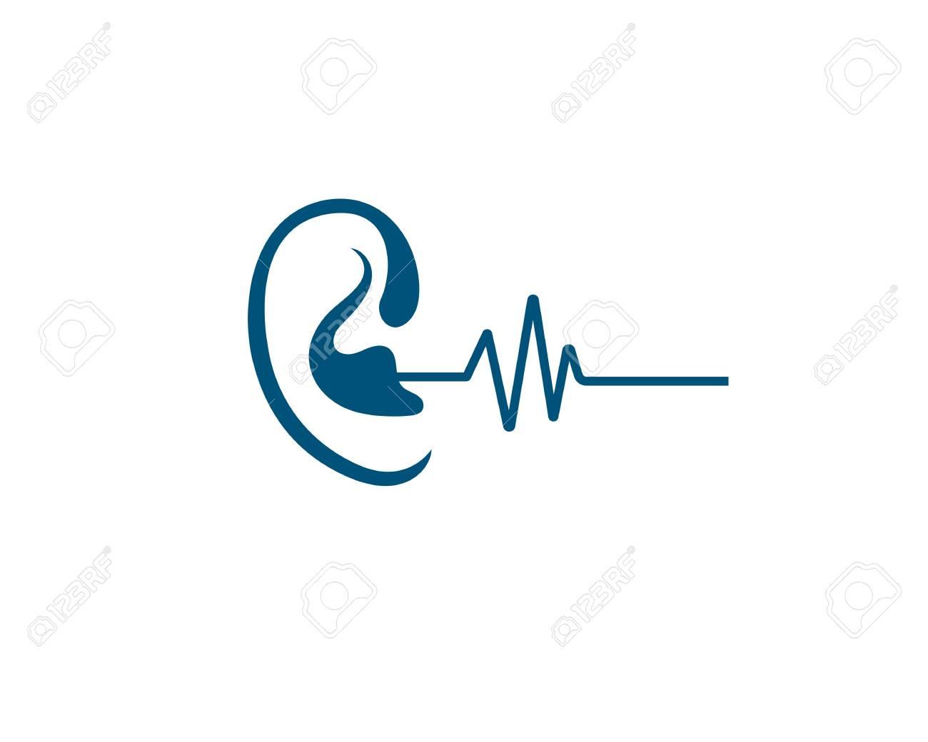 Hearing Template vector icon design - 122831108