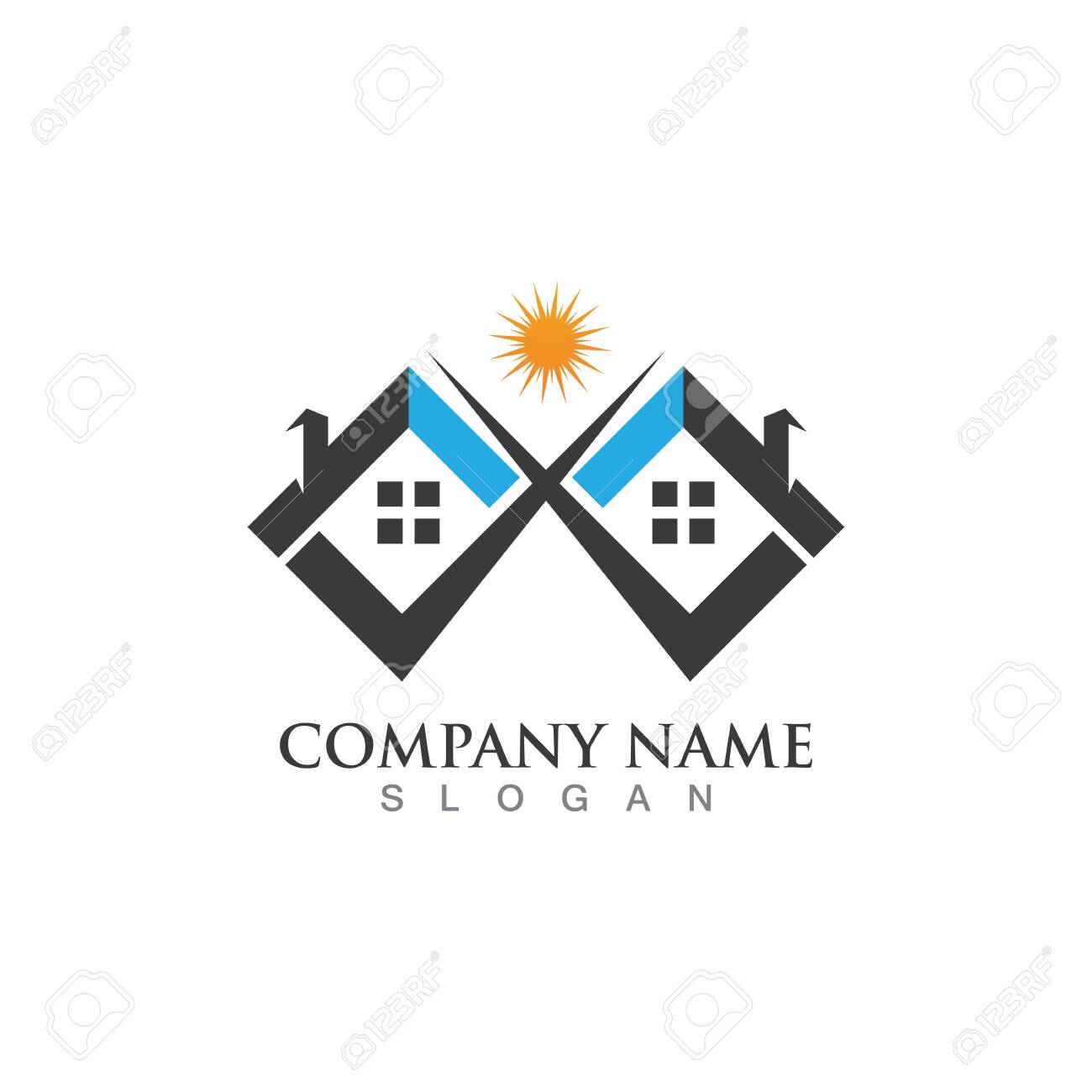 Home Logo And Symbol Property And Construction Logo Design