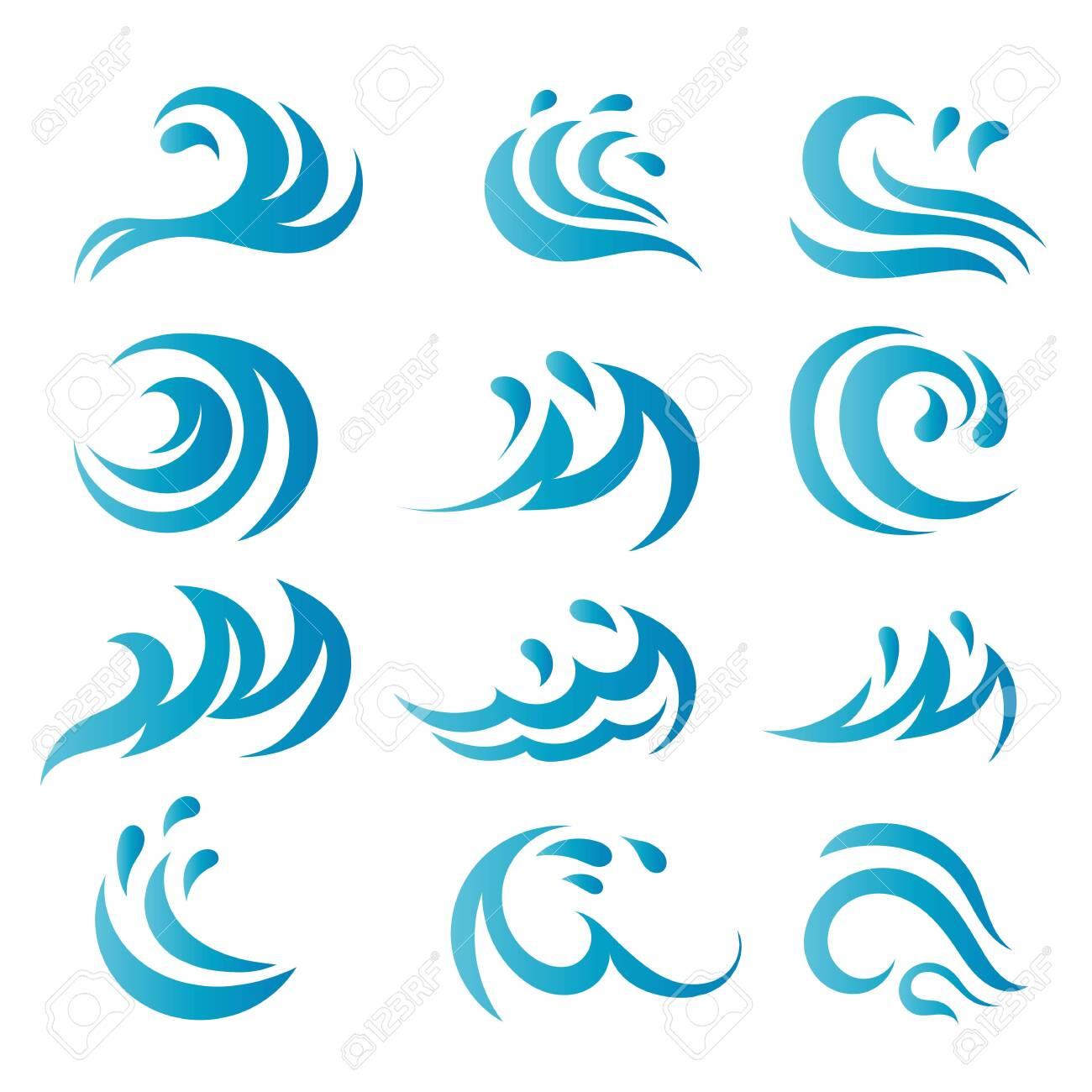 Water Wave Logo Template vector symbol nature - 128450805