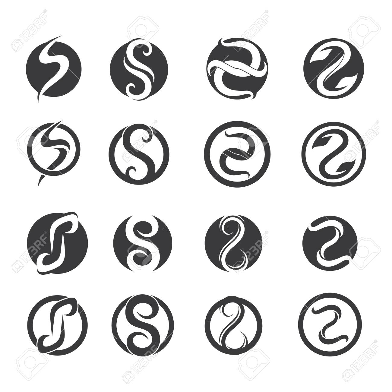 S logo and symbols template vector icons - 129465420