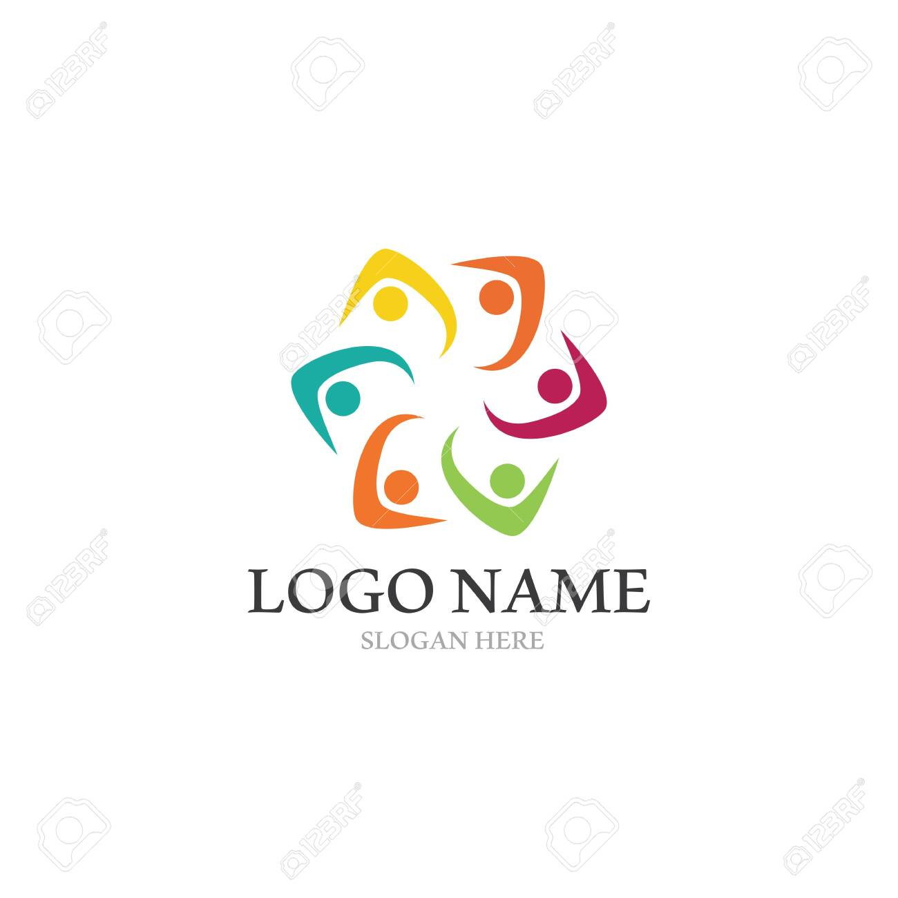 Adoption and community care Logo template vector icon - 129622238