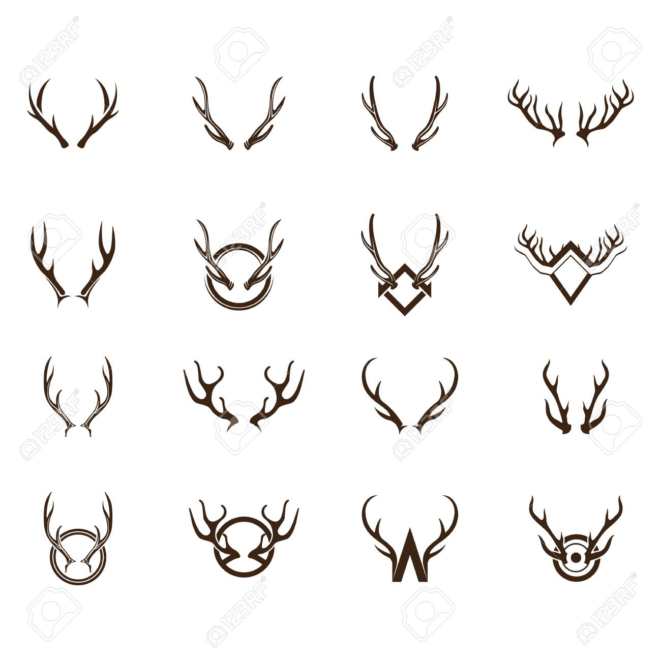 Deer Logo Template vector icon illustration design - 134480301