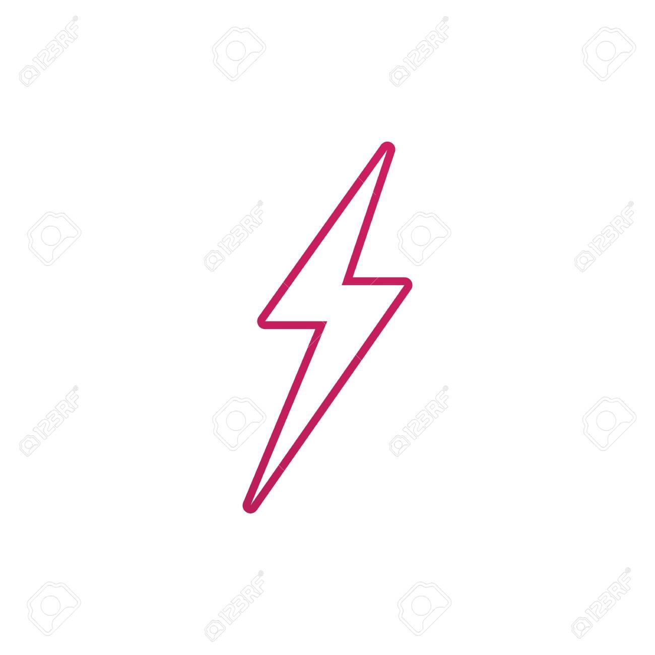 Lightning bolt flash thunderbolt icons vectors - 138151032