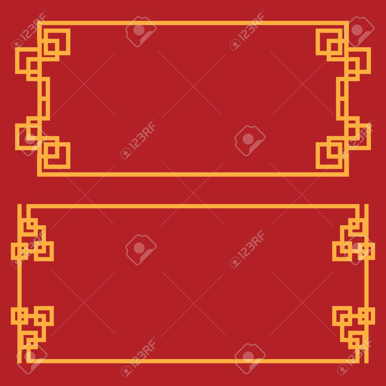 Chinese border Vector illustration design template - 149495648