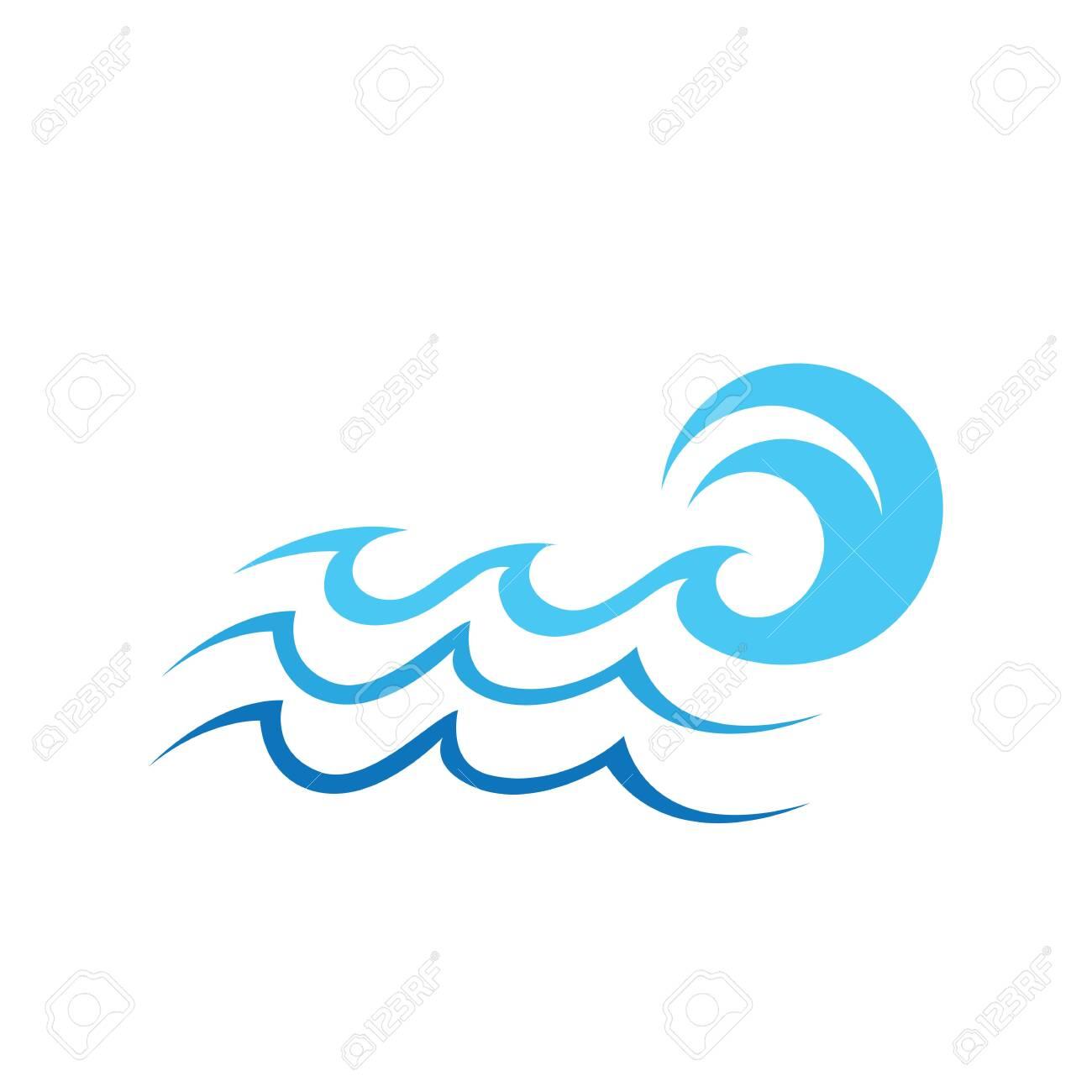 Water wave icon vector illustration design logo - 154403238