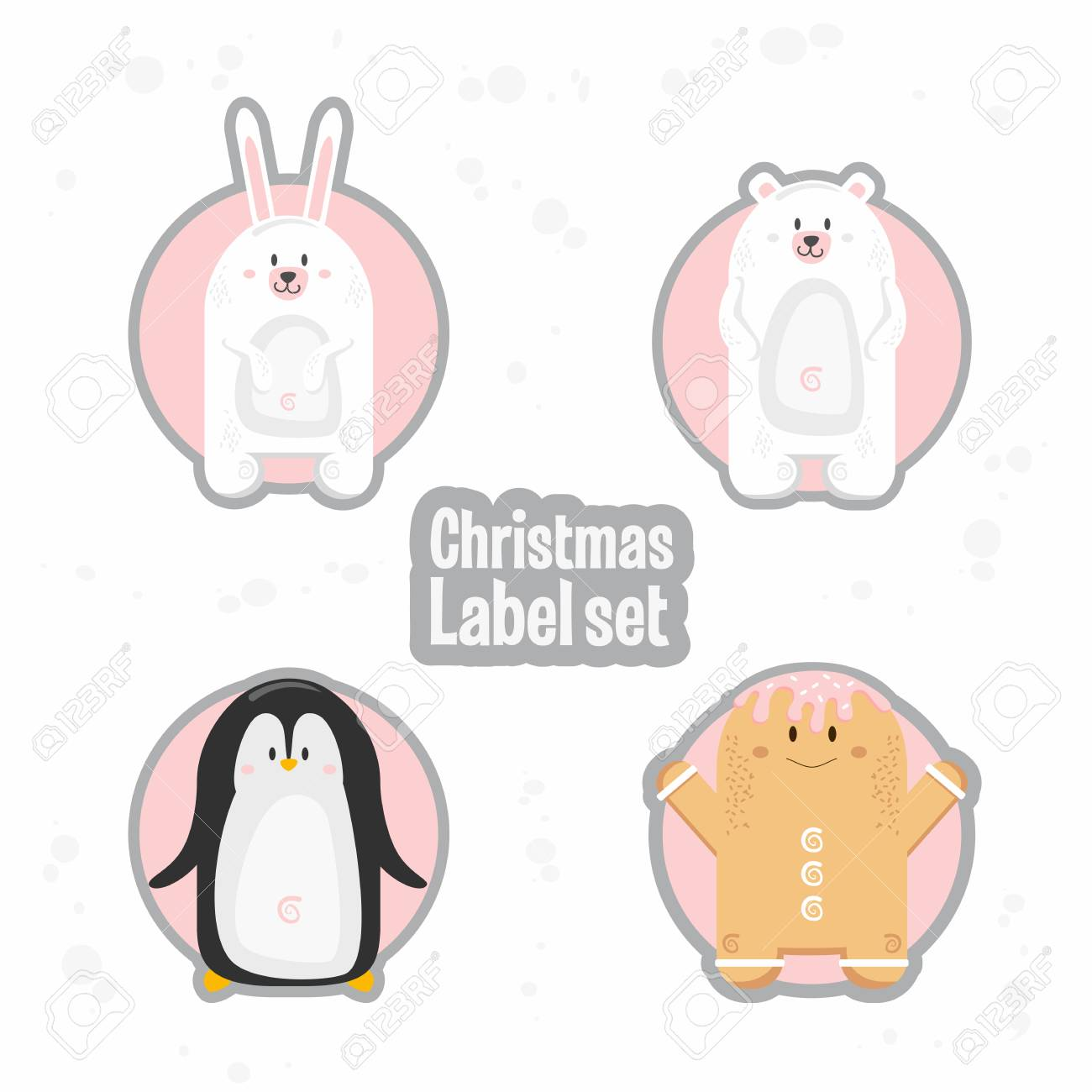 picture about Penguin Template Printable identified as Xmas reward tags template fixed. Vector printable christmas box or..