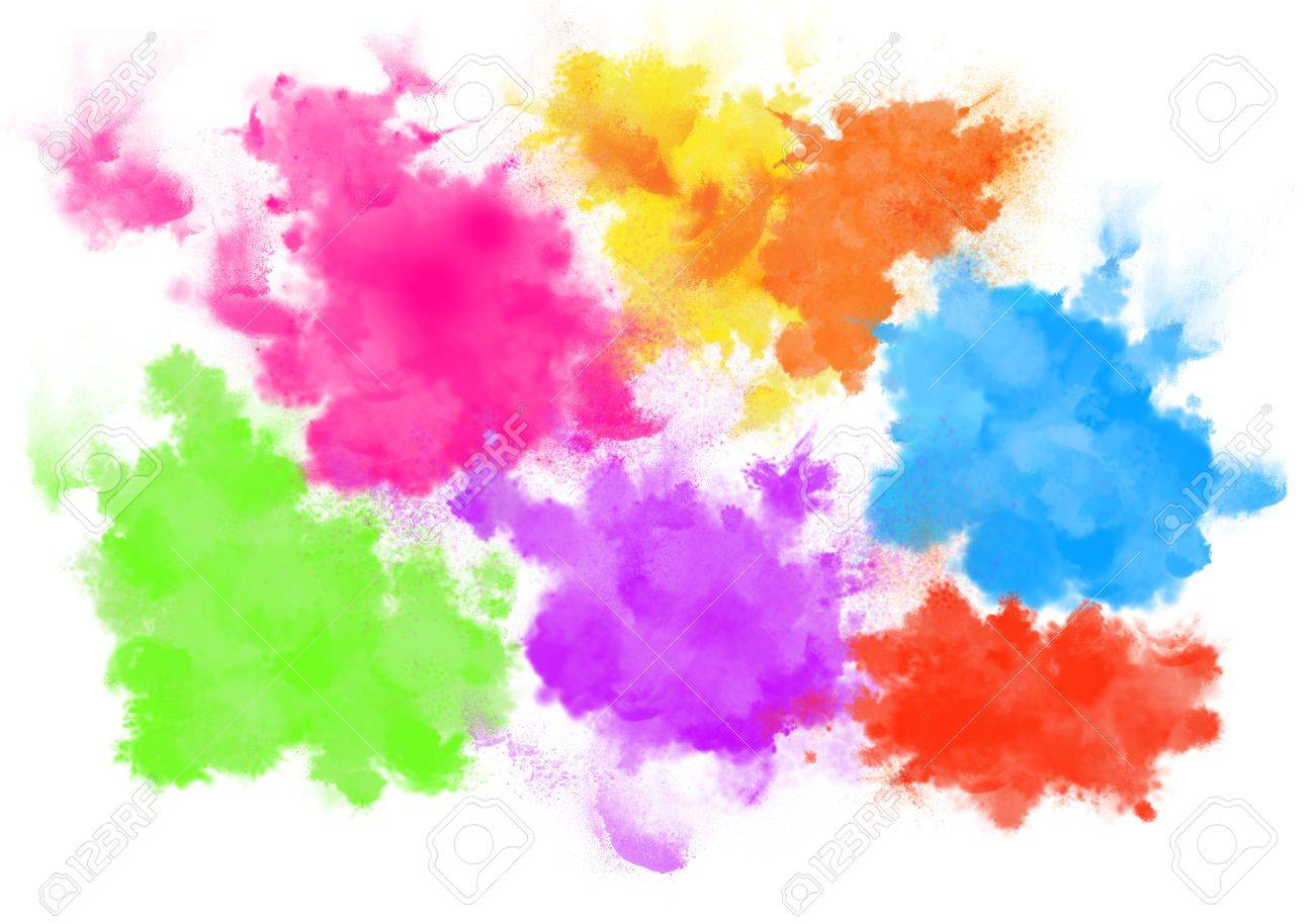 Free illustration watercolor pigment color free image - Holi Color Pigments Splatters Background Stock Photo 62323401
